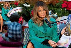 Melania Trump, hasta çocuklara maske takmadan masal okudu