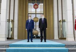Cumhurbaşkanı Erdoğan, Irak Başbakanı Kazımiyi resmi törenle karşıladı