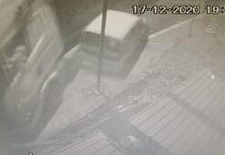 TIRın kaza anı güvenlik kamerasına yansıdı