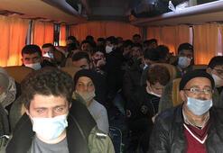 Fethiyede 97 kaçak göçmen ile 10 organizatör yakalandı