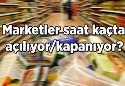 Marketler bugün saat kaça kadar açık Hafta sonu marketler açık olacak mı