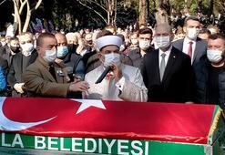 Kalp krizinden ölen Ula Belediye Başkanı İsmail Akkaya son yolculuğuna uğurlandı