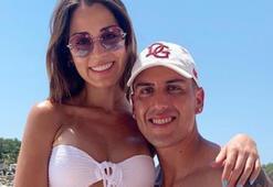 Galatasaray galibiyetinden sonra Enzo Roconun sevgilisi kendinden geçti...