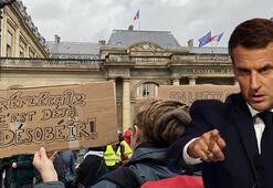 Tansiyon yine yükseldi Macron istemese de biz buradayız