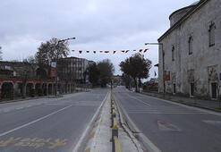 Trakyada sokağa çıkma kısıtlaması nedeniyle cadde ve sokaklarda sessizlik hakim