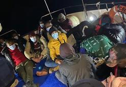 Ölüme terk edilen 38 düzensiz göçmen kurtarıldı