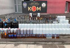 3 depoya şok baskın 155 litre sahte, 206 şişe kaçak içki ele geçirildi