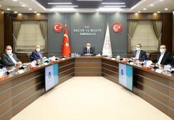Bakan Elvan, Hak-İş Genel Başkanı Arslanı kabul etti