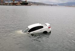 Denize uçtu Balıkesirde akılalmaz kaza
