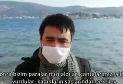 Son dakika Bakan Soylu paylaştı: Yunanistandan insanlık dışı muamele