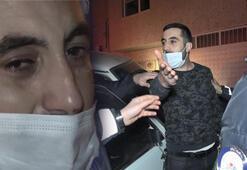 Polisten kaçarken evin duvarına çarptı yakalanınca ağladı