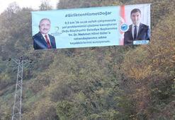 Orduda CHP'li başkandan AK Partili başkana pankartlı teşekkür