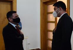 Bakan Kurum, Arnavutluk Yeniden İnşa Devlet Bakanı Ahmetaj ile görüştü