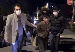 Yolda yürüyen kadını gasp eden kişi yakalandı
