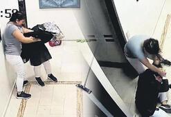 Kadınların temizlik kavgası Kafasını duvarlara vurdu