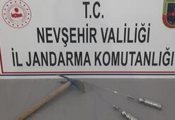 Nevşehir'de define avcısı suçüstü yakalandı
