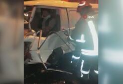 TEM'de 7 araç birbirine girdi, trafik kilitlendi