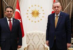 Cumhurbaşkanı Erdoğan, KKTC Başbakanı Saneri kabul etti