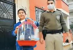 Bakan Soylu, kaplumbağasından ayrı düşen Eymene muhabbet kuşu hediye etti