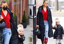 Irina Shayk ile kızı Leanın uyumlu stili