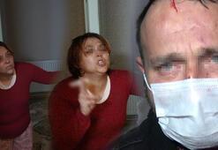 Kıskançlık krizi geçiren kadın, kocasını darp edip sokağa attı