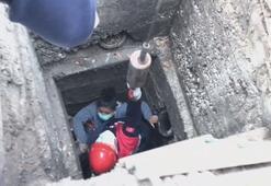 Kanalizasyon çukuruna düşen hamile kadın yaralandı