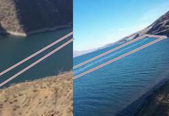Elazığda depremin ardından görüntülendi Hazar Gölünde...