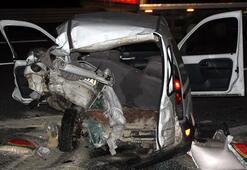 TEMde feci kaza Çifti ölüm ayırdı