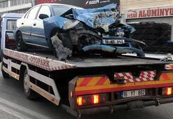 Sosyal medyada canlı yayın yaparken kazayı görüntüledi