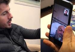 Emre Belözoğlundan, Covid-19 hastası İbrahim Eyine moral telefonu