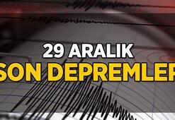 Deprem mi oldu Kaç büyüklüğünde deprem oldu 29 Aralık son depremler sorgula