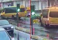 Kadının kulağının koptuğu minibüs dehşeti kamerada