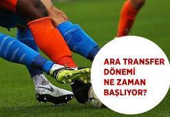 Süper Ligde ara transfer dönemi ne zaman başlayacak 2020-2021 ara transfer dönemi tarihleri....