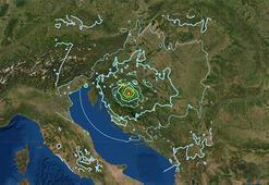 Son dakika... Hırvatistanda şiddetli deprem İlk görüntüler geldi