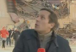 Hırvatistanda deprem fırtınası Artçı sarsıntıya böyle yakalandı
