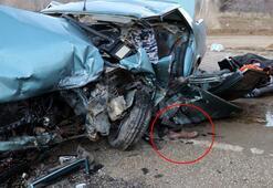 Ispartada feci kaza Geriye bu görüntü kaldı
