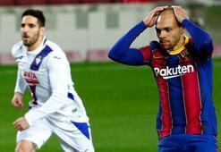 Messisiz Barcelona, Eibara takıldı: 1-1