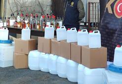 Yılbaşı öncesi İstanbulda 1.5 ton kaçak içki ele geçirildi