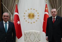 Cumhurbaşkanı Erdoğan, DSP Genel Başkanı Aksakalı kabul etti