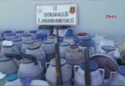Erzincanda sahte alkol operasyonu