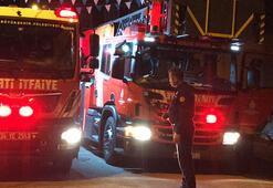 Arnavutköyde el yapımı patlayıcı atılan markette yangın çıktı