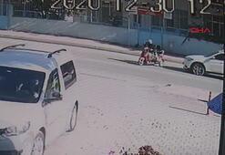 Lüks cipiyle elektrikli bisiklete çarptı