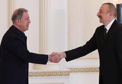 Bakan Akar, Cumhurbaşkanı Aliyev ile görüştü