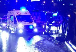 Hasta taşıyan ambulans devrildi 1 hasta ve 1 sağlık çalışanı yaralı