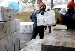 Türkiyeden Hırvatistana yardım eli Malzemeler ulaştı