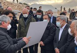 Bakan Soylu, İdlibde yapımı süren briket evleri inceledi