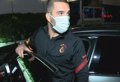 Galatasaray kaptanı Arda Turan Omar Elabdellaouiyi hastanede ziyaret etti