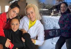 Hülya Avşar, Uludağda kayak yaptı