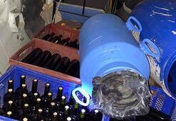Tekirdağda 120 litre sahte şarap ele geçirildi