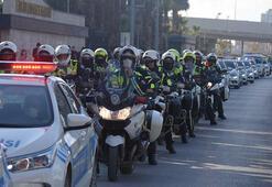 Şehit polis memuru Fethi Sekin, İzmirde saygı turuyla anıldı